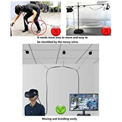 Retractable Cable Management for VR Headsets -non drill